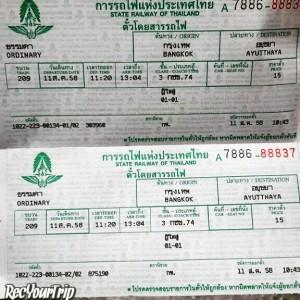 treno bangkok ayutthaya terza classe