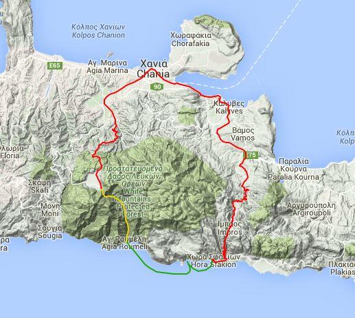 gole di samaria percordo itinerario creta trekking