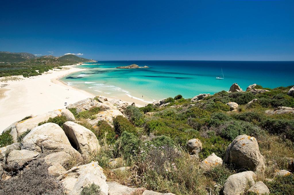 sardegna del sud le pi belle spiagge della costa ad