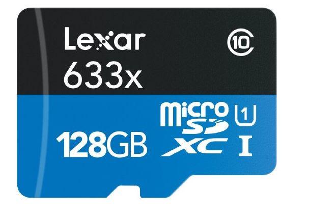 Micro lexar 128 gb gopro