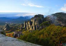 panorama monasteri meteore grecia