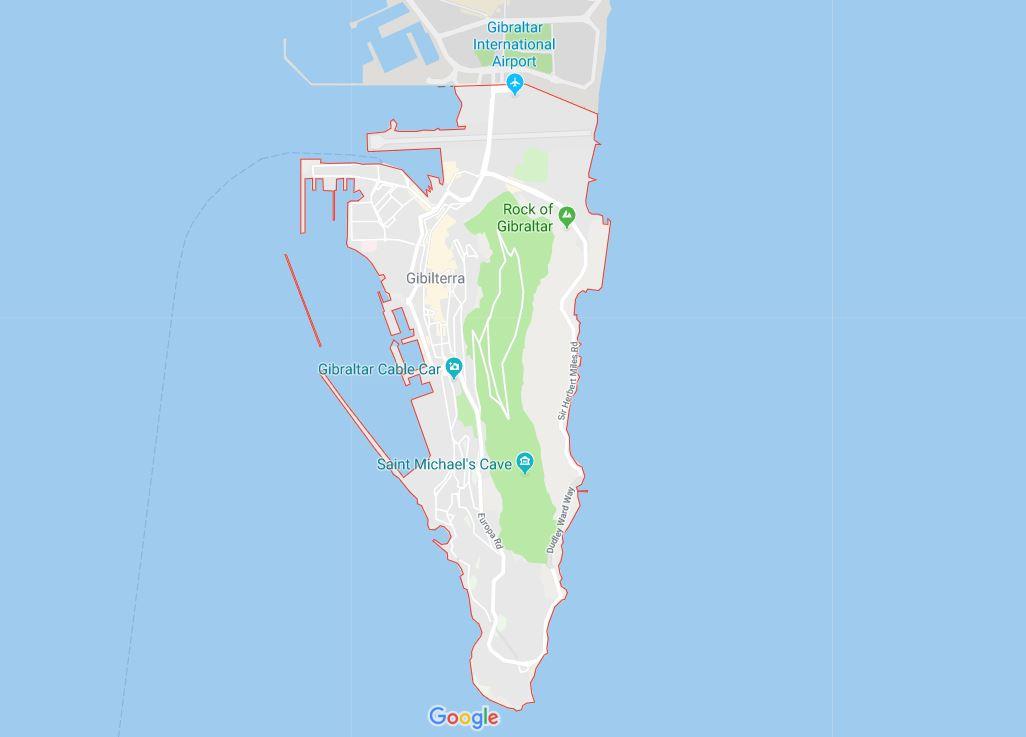mappa aeroporto gibilterra