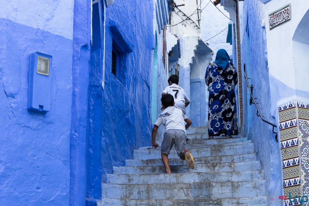 chefchaouen città blu marocco