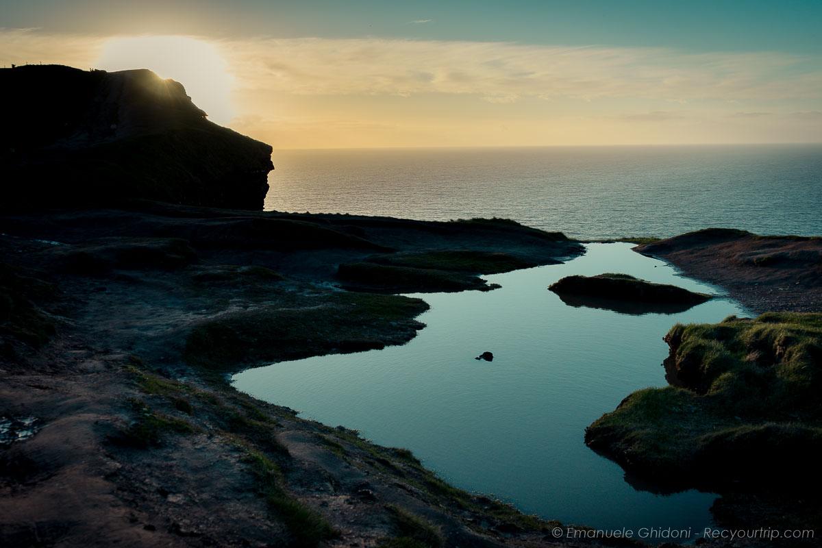 Particolare delle cliffs of moher in Irlanda