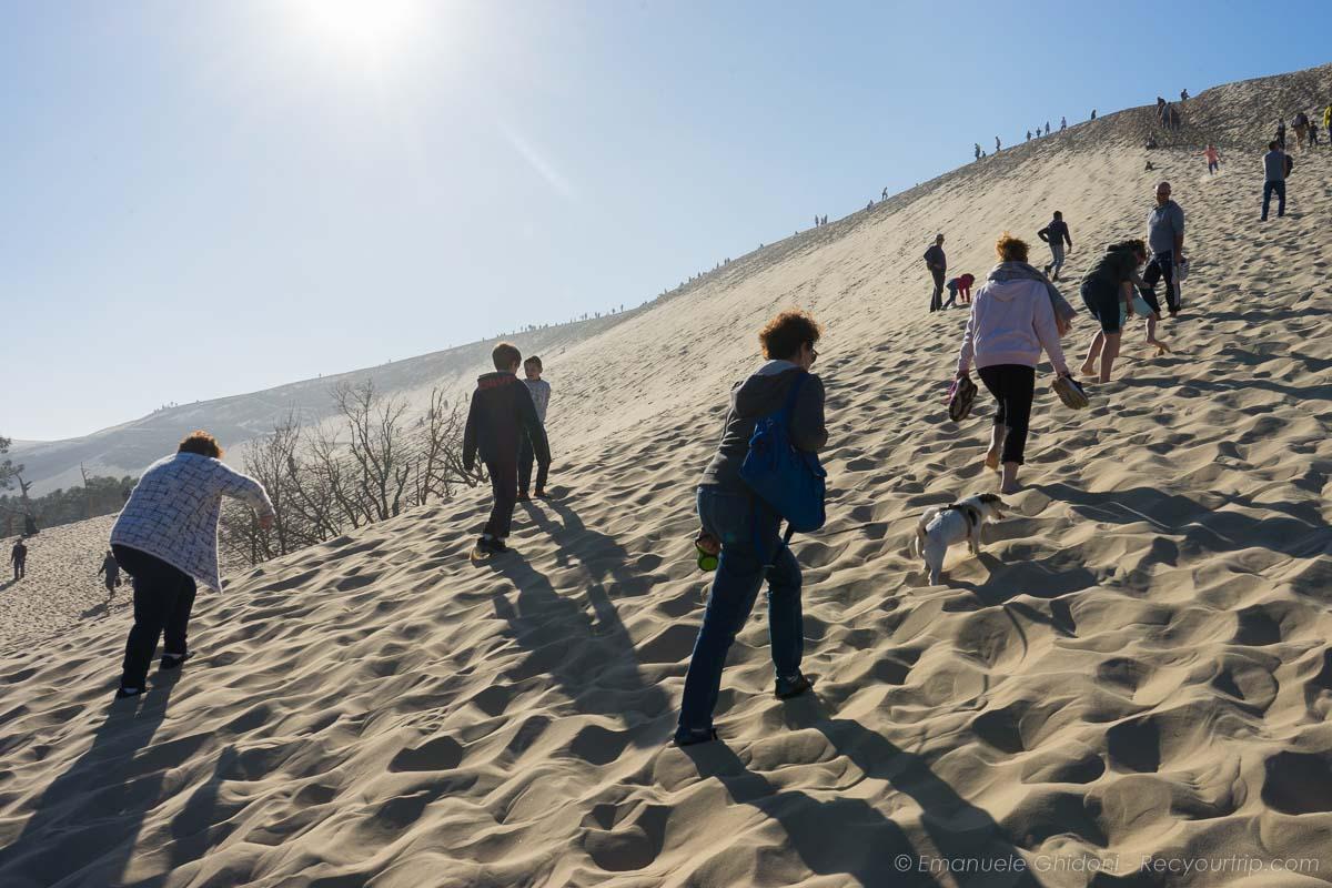 salita alla duna di pilat in francia