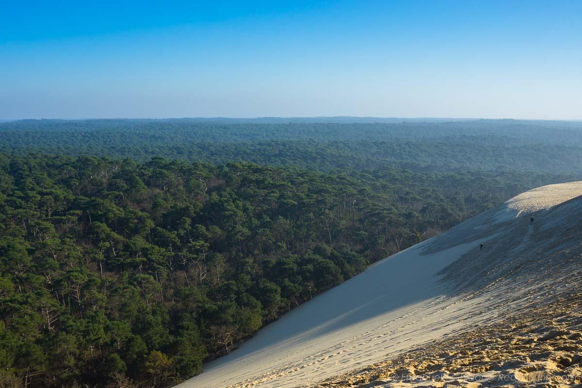 panorama dall'alto della duna di pilat