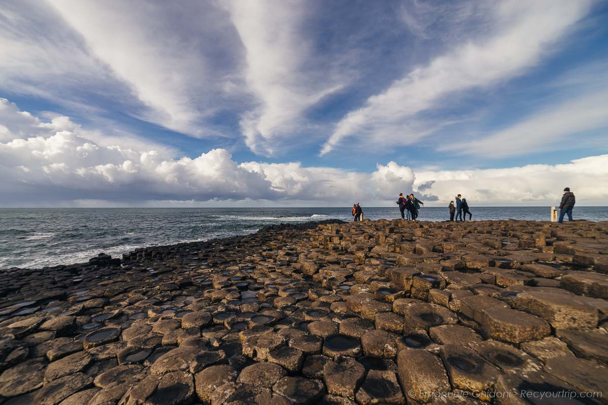 nuvole sulle giant's causeway