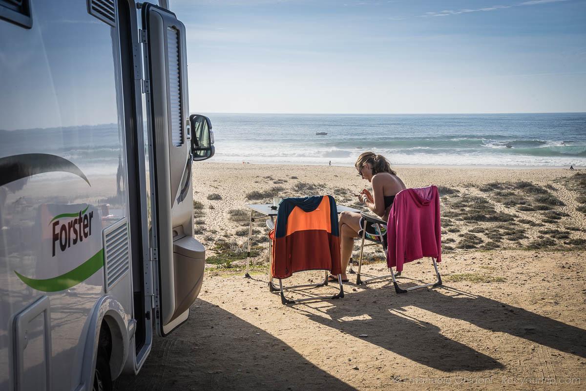 fly & camper viaggiare come fly&drive vista sul mare a nazarè