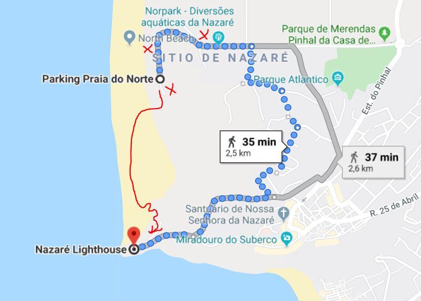 strada per nazarè in portogallo recyourtrip