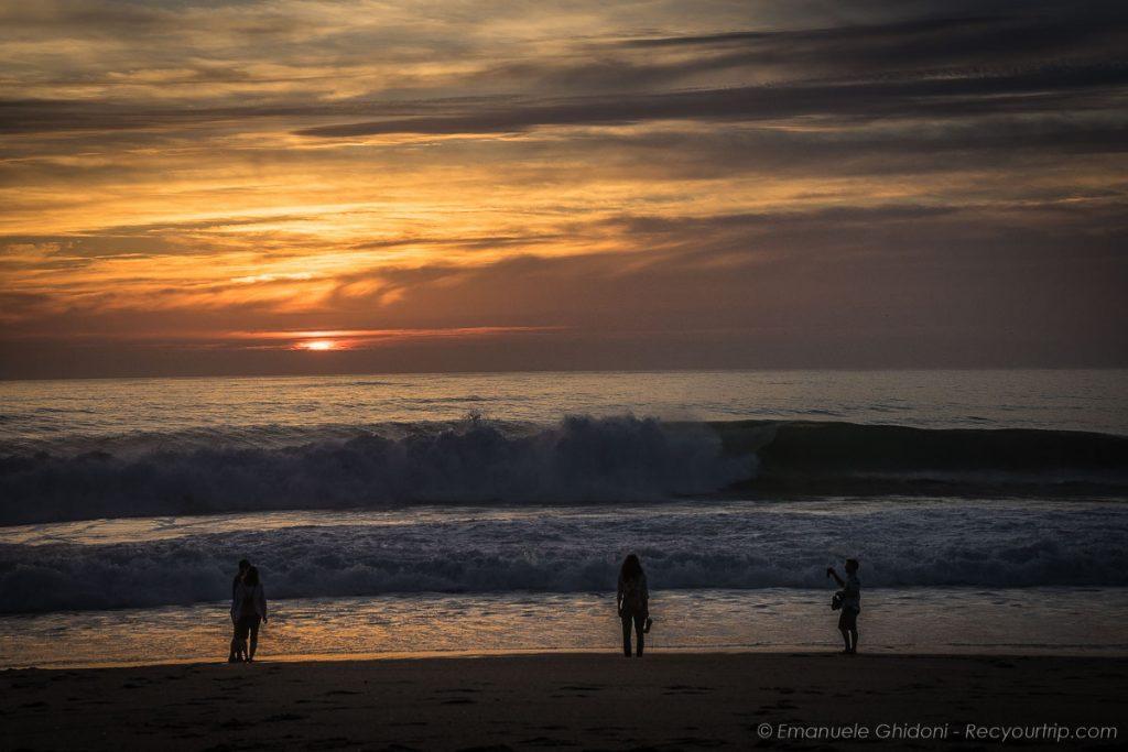Nazarè al tramonto