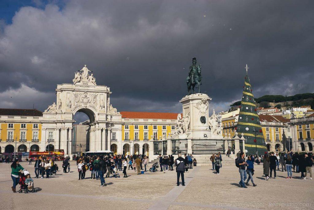 Piazza del Commercio di Lisbona