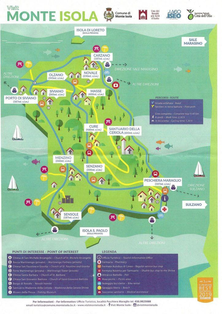 mappa monte isola santuario della ceriola