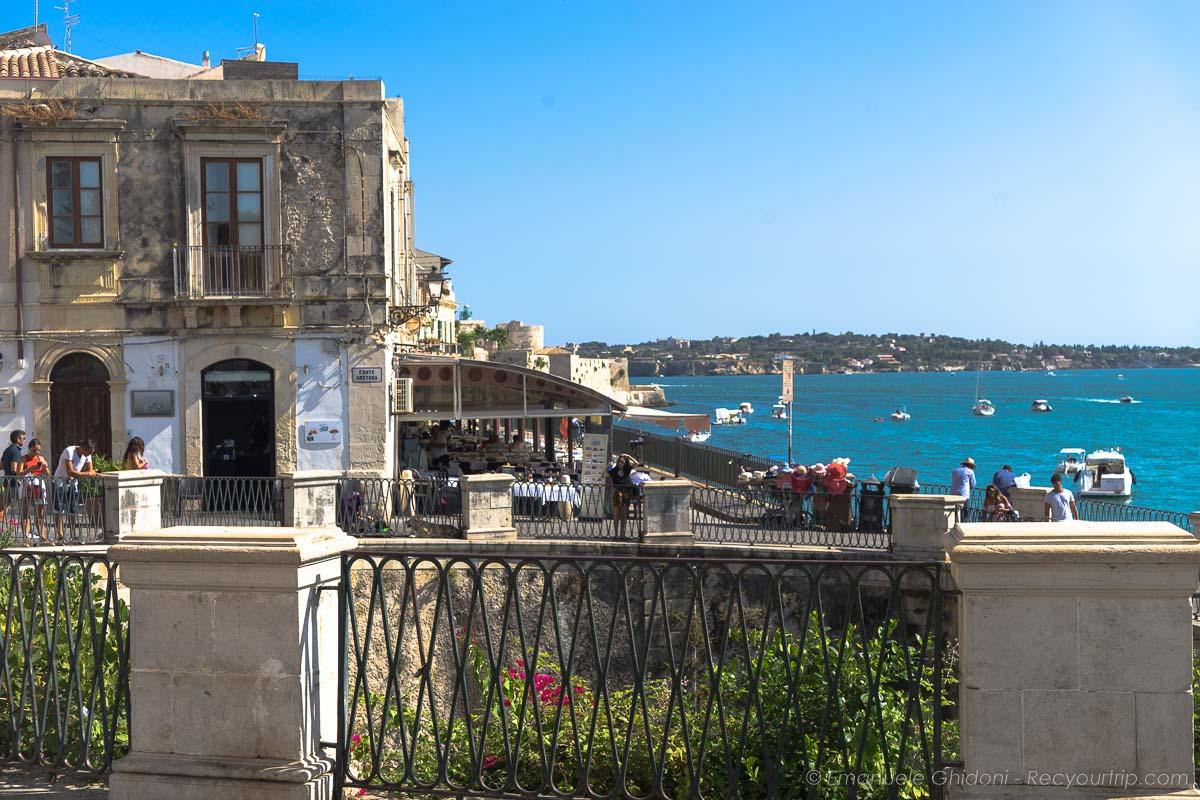 vista isola di ortigia itinerario in sicilia