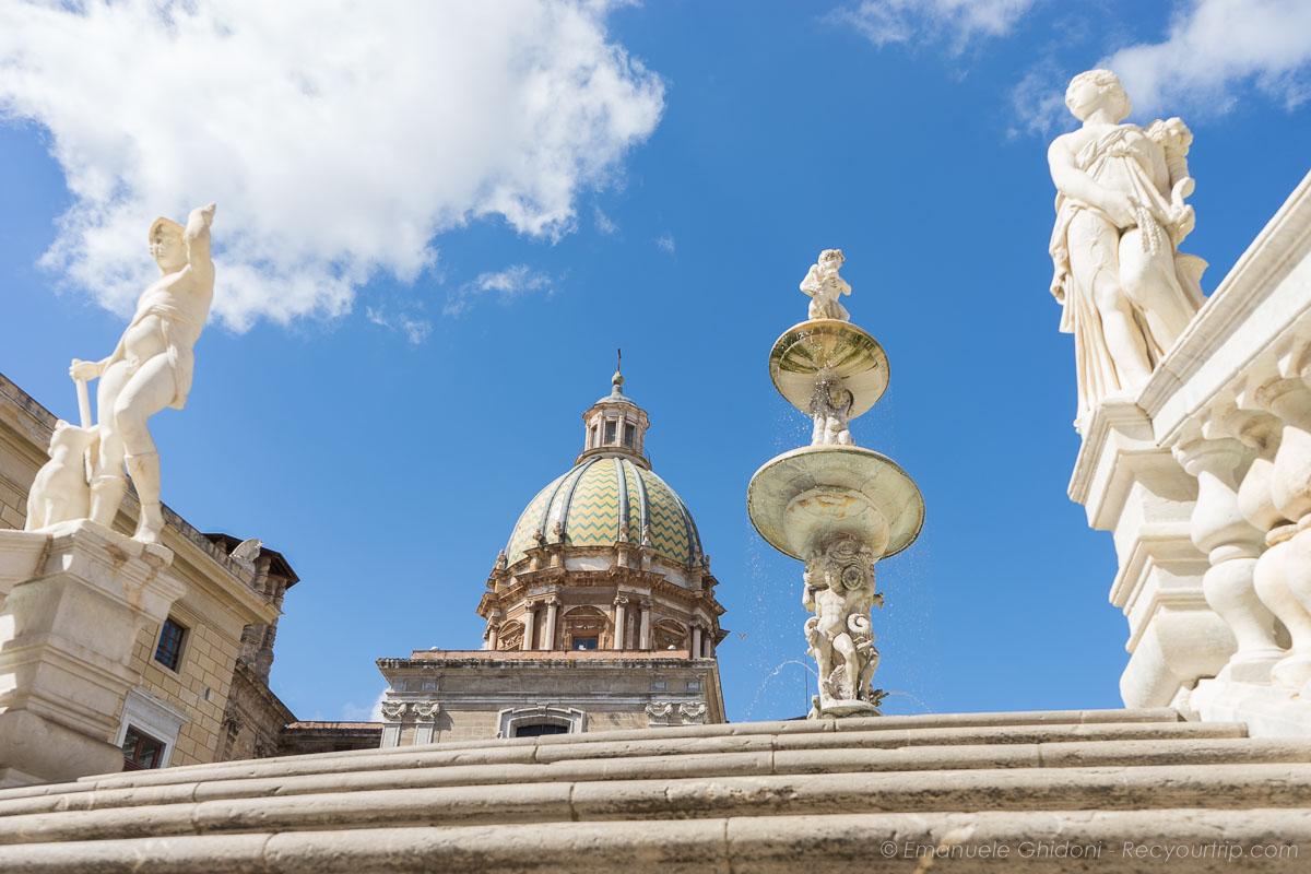 fontana pretoria nella palermo itinerario in sicilia