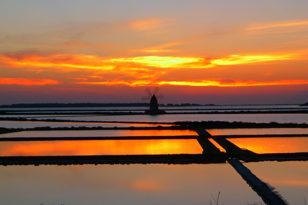 saline di marsala tramonto